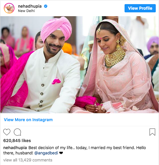 Cute caption for just married pictures for social media - 7