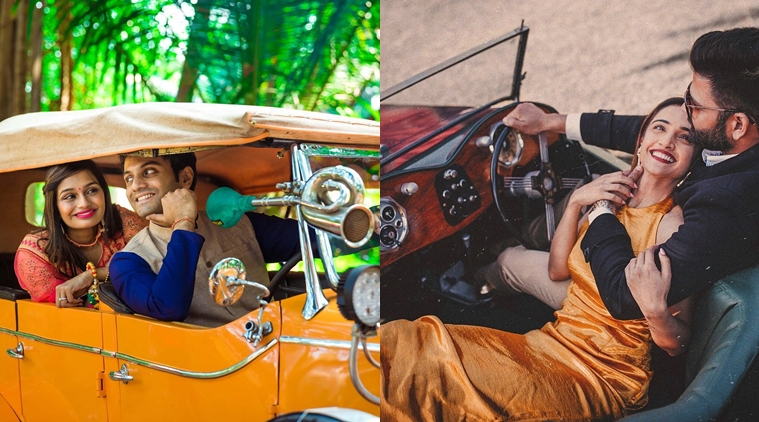 Couples in Vintage cars