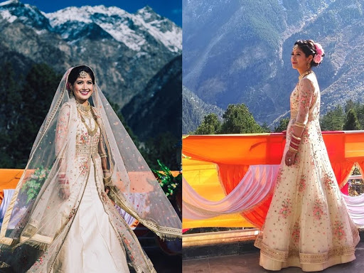 bridal shots in mountains